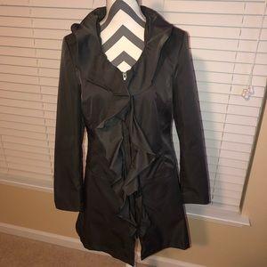 Cynthia Rowley Ruffle Trench Coat